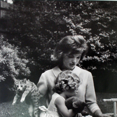 Jacques Lowe (1930-2001)  Jackie Kennedy and Caroline  photo summer 1961 [printed later]  gelatin silver print, AP, signed  paper size > 20 x 16 inches