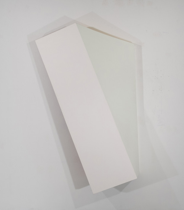 CHARLES HINMAN Leaning Twist, 2010 acrylic on shaped canvas Artwork: 84 x 54 x 14 inches | 213.4 x 137.2 x 35.6 cm