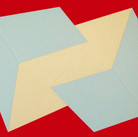 Charles Hinman Blue on Crimson, 1972  silkscreen on embossed paper, edition of 200, signed, stamped  25.5 x 34.25 inches
