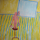 James Juthstrom (1925-2007) Untitled, circa 1990s acrylic on canvas 72 x 58 inches