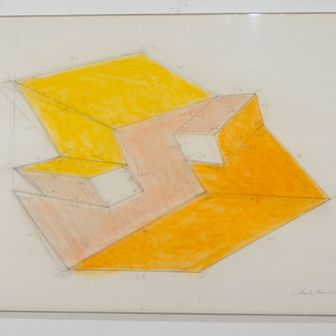 Charles Hinman Untitled Yellow, circa late-1970s graphite, oilstick on paper 21 x 29.5 inches