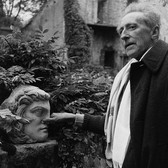 Lucien Clergue [1934-2014]  Jean Cocteau at Milly-le-Fleuret  photo 1959 [printed later] gelatin silver print, edition of 30, signed  paper size > 20 x 16 inches
