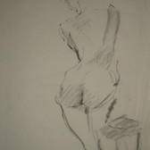 Stuart Sutcliffe (1940-1962)  Untitled (Nude), circa 1950s  charcoal on paper,  15 x 11 inches