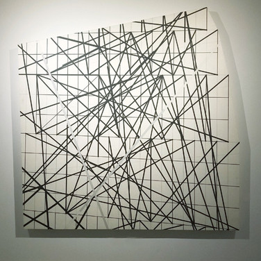 WILL INSLEY (1929-2011) Wall Fragment No. 93.12, 1993 acrylic on masonite 80 x 80 x 3 inches
