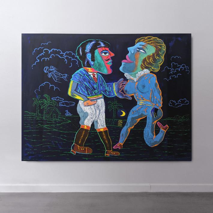 CARMEN CICERO Flying Down to Rio II, 1989 acrylic on canvas 76 x 96 inches | 193.0 x 243.8 cm
