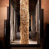 Ian Trask,  Holon, 2012/13 repurposed cardboard, wood, 12 x 2 x 2 feet