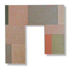 Will Insley (1929-2011) Wall Fragment No. 87.5, 1987 acrylic on masonite, 24 x 24 inches