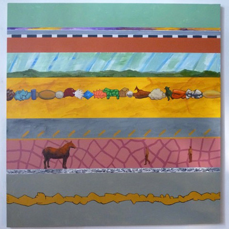 Ron Morosan Segment, 2018 acrylic on canvas 45 x 43 inches