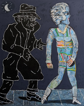 Carmen Cicero Footsteps in the Dark, 1980s-92 acrylic on canvas 72 x 60 inches