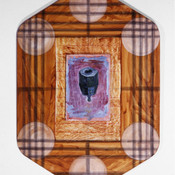 Ron Morosan Toll Call, 1999 oil on canvas and wood 48 x 34 inches