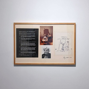 ROGER WELCH Winifred Wakerly Memory Map, 1973 photograph, photostat text, and ink drawing on transparency mounted on museum board 21 x 31 inches