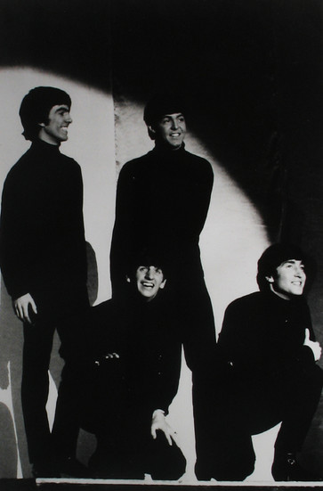 The Beatles at the Cavern, Liverpool, 1963 vintage gelatin silver print Image Size: 13 x 9 inches   33.0 x 22.9 cm  Photography by Hatami (1928-2017)