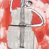 Lecudna Manuela, 11 years old – girl, Argentina Music  watercolor, pencil on paper,  14 x 20 inches