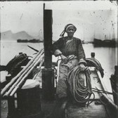 John Thomson (1837-1931)  Chinese Skipper, Yangtze 1871 [printed later]  gelatin silver print from the glass negative, edition of 350, stamped  16 x 20 inches