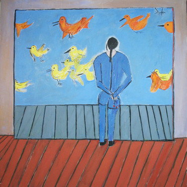 James Juthstrom (1925-2007) Untitled, circa 1990s acrylic on canvas 75.5 x 68.5 inches