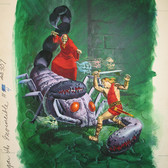 """Dagar The Invincible  """"Vengeance, Sweet Vengeance""""  George Wilson  Issue #4/ February 1973  Watercolor, gouache on bookboard, 20 x 15 inches"""