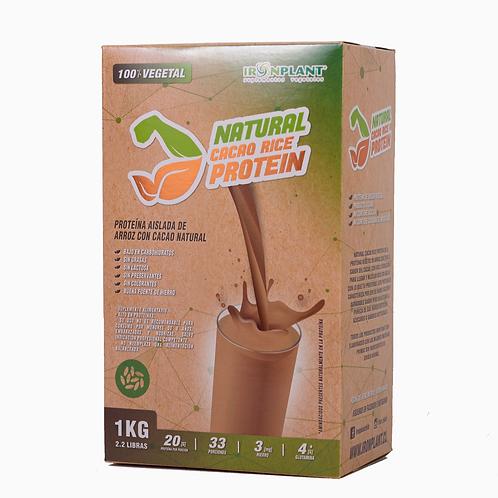 Proteínas de Arroz Cacao 4 kilos Caja