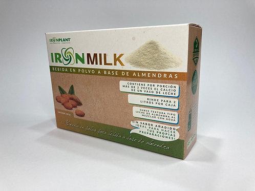 """IronMilk  """"Bebida en polvo a base de Almendras"""" sabor natural"""