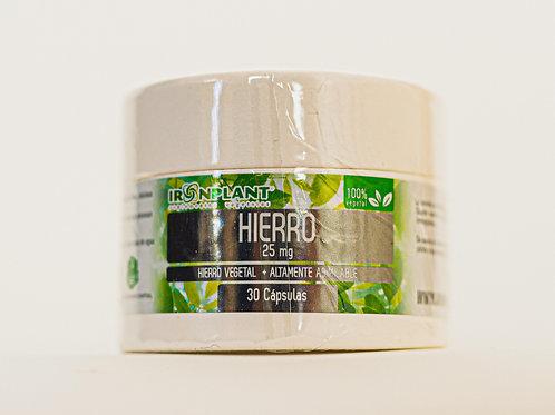 Hierro - 30veggie caps/25 mg- Frasco ecológico