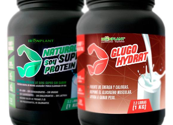 Pack gainer básico: SUPRO de 1 kg + Glucohydrat de 1 kg