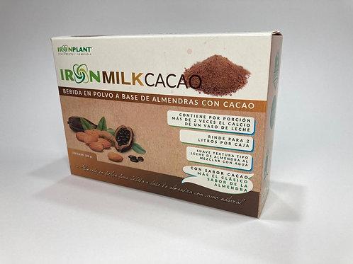 "IronMilk  ""Bebida en polvo a base de Almendras"" sabor cacao"