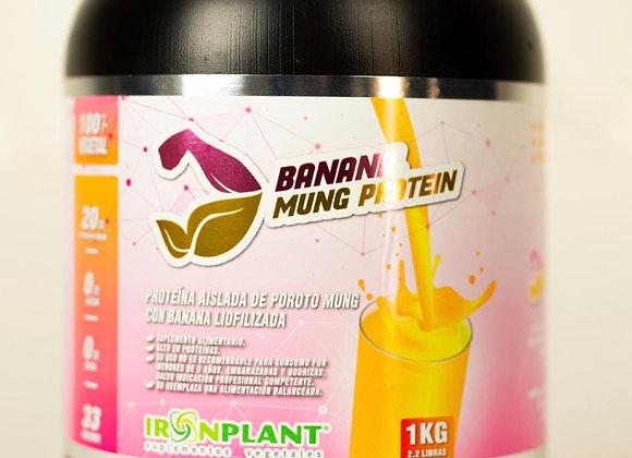 Proteína de Poroto Mung con Banana Liofilizada 2 Kilos