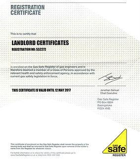 Lanlord certificate