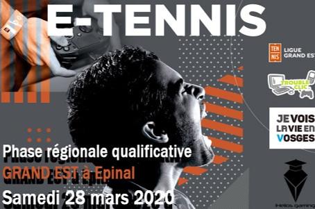 Championnats e-tennis, une première !