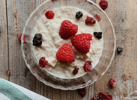 FANCY FOOD: Porridge ai lamponi
