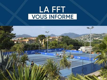 La FFT invite ses clubs à suspendre toutes leurs activités