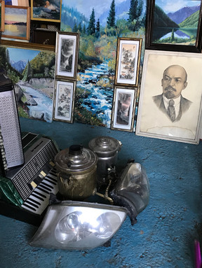 Artist's garage sale