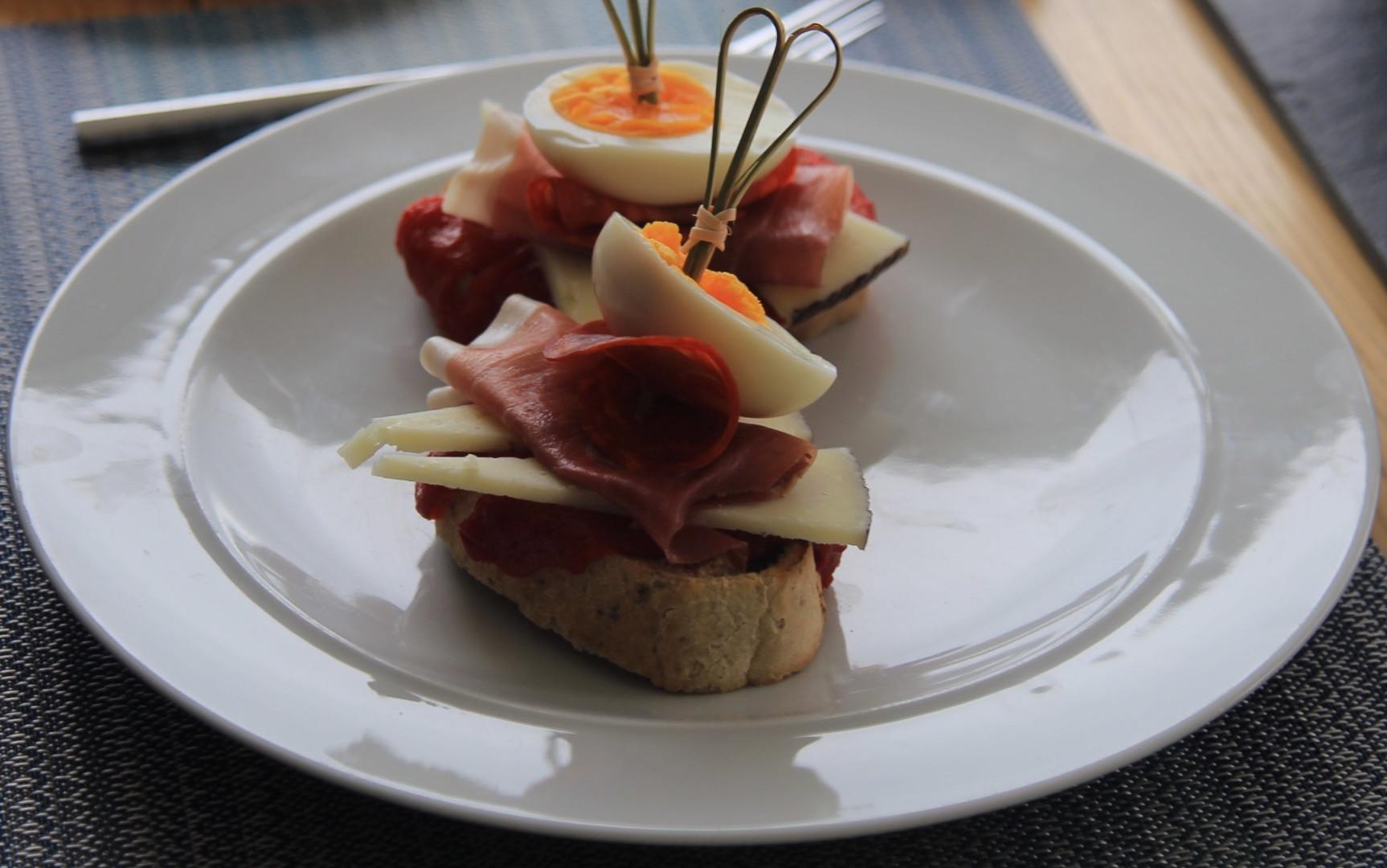 Montadito - veggie option available