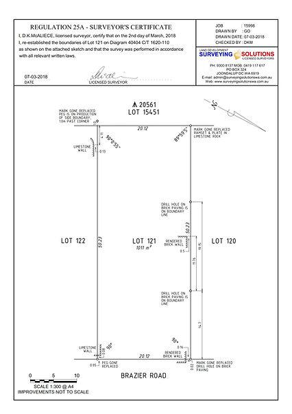 Boundary Survey Certificate