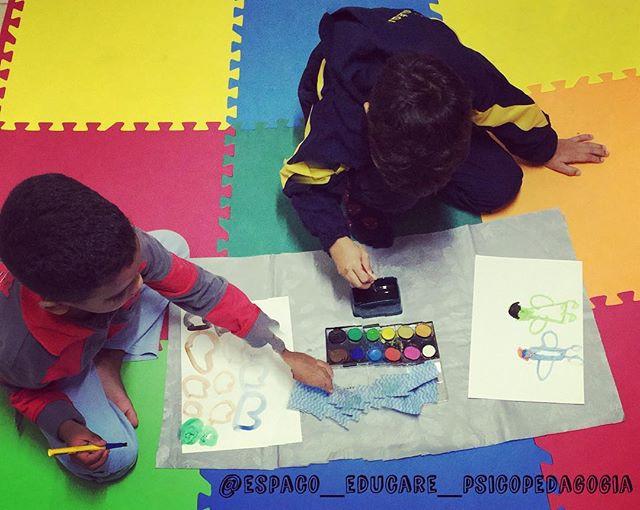 atividade com aquarela