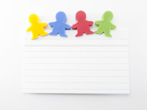 magnets shaped kids colors with note pap