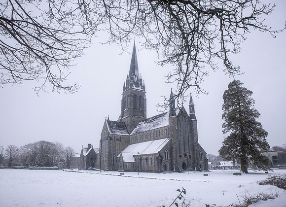 Killarney Cathedral in the Snow