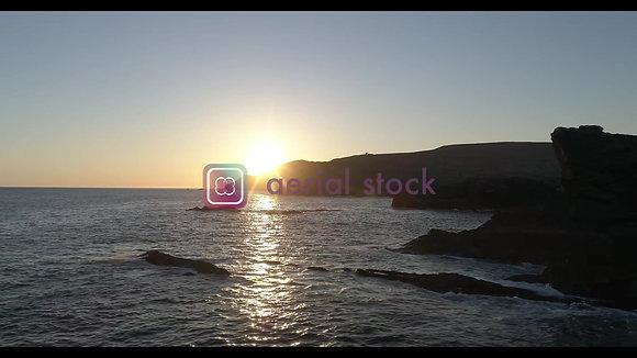Kerry Cliffs sunset time