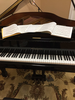 Music on Piano
