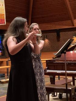 Rebecca in her first recital.