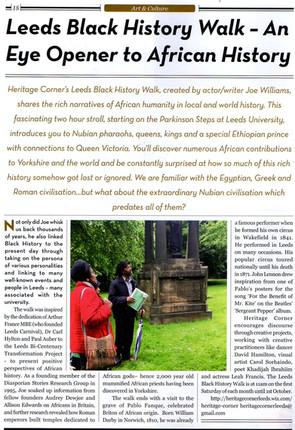 Press Review of Leeds Black History Walk