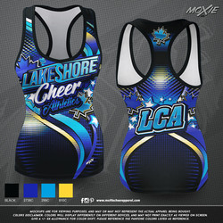 Lakeshore-Cheer TANK TOP-moXie PROOF
