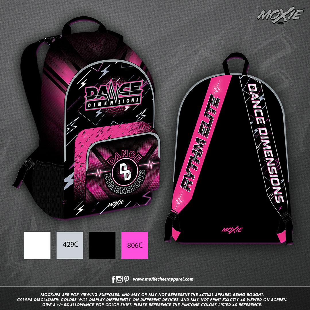 DANCE DIMENSIONS BACKPACK-moXie PROOF