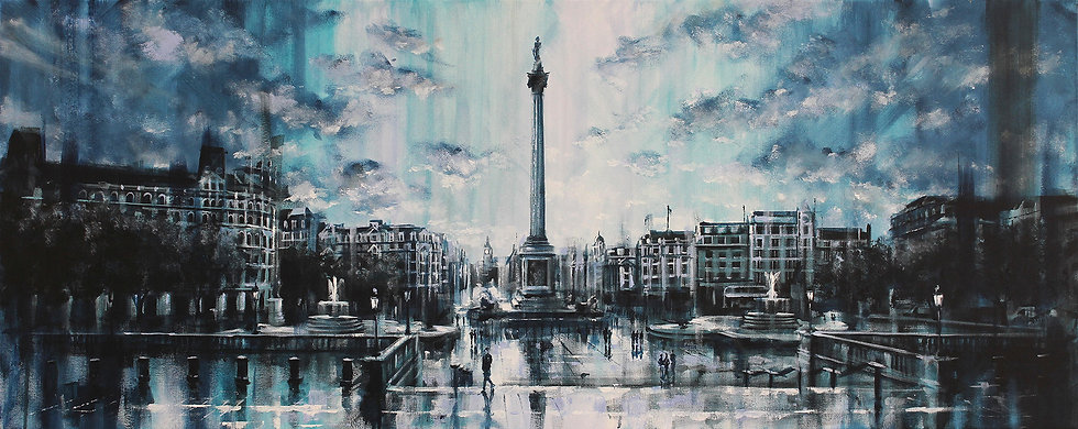 """Trafalgar Square Reflections"""