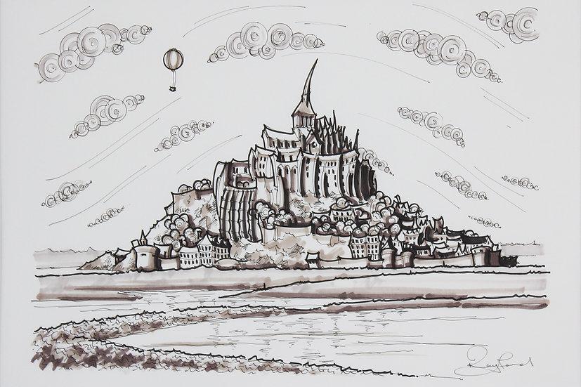 Mont St Michel Sketch