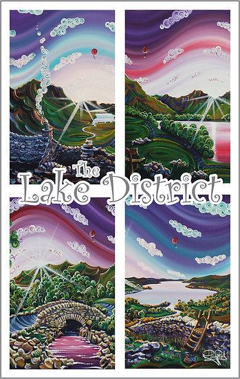 Lake District Tea Towel