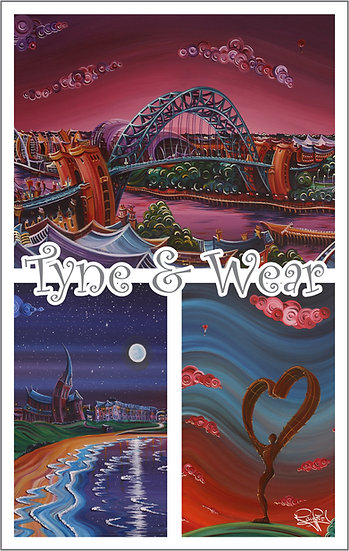 Tyne & Wear Tea Towel
