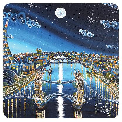 London Blue Moon Coaster