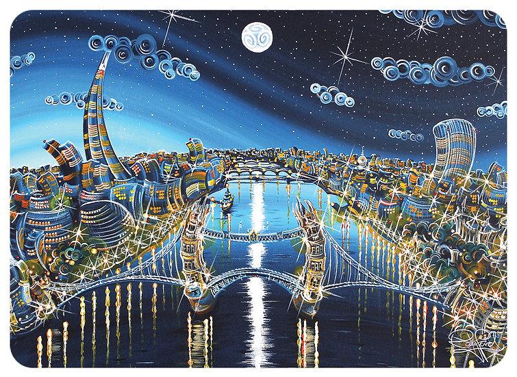 London Blue Moon Placemat