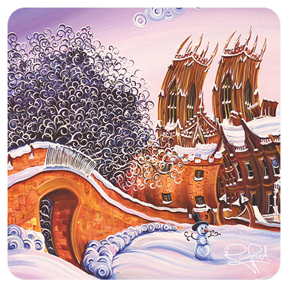 Minster Snowman Coaster