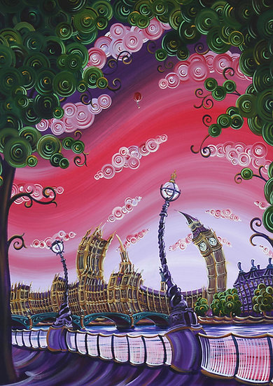 """Greetings Card - """"Soaring over Southbank"""""""